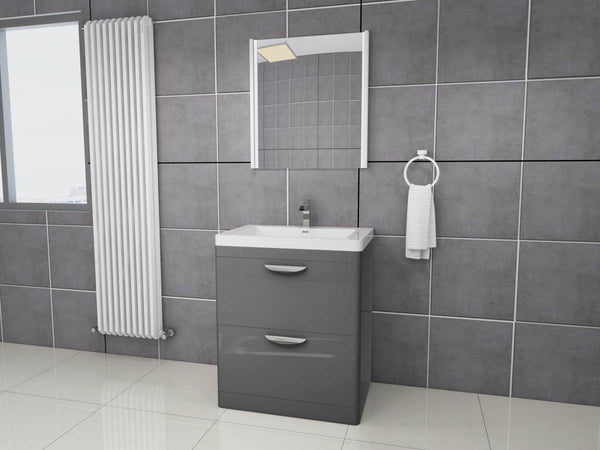 Apollo 700 FS Unit And Polymarble Basin Grey Gloss