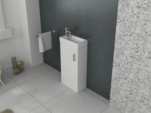 Mini 400 Unit And Basin – White