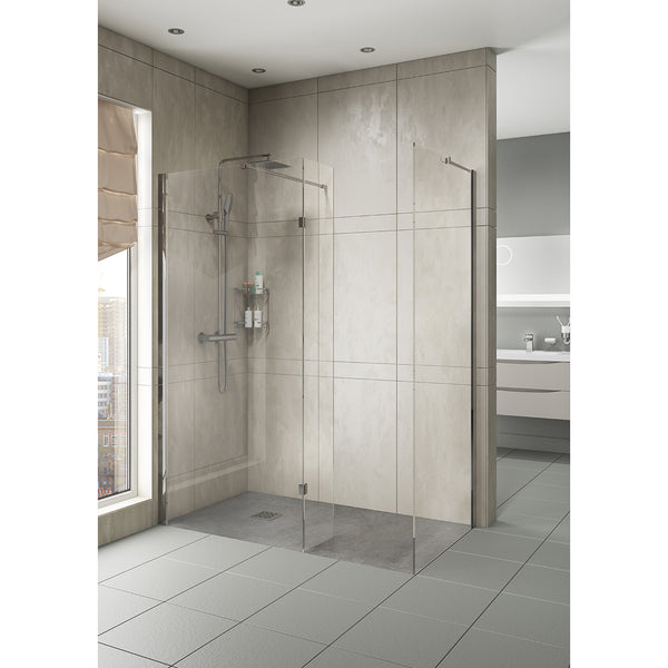 HINGED WET ROOM PANELS 1000MM Without Tray