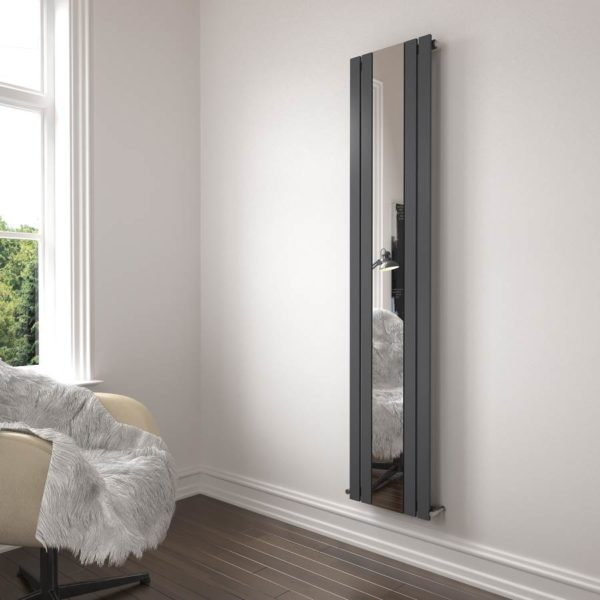 Belgravia Radiator Single Mirrored Anthracite 1800x450x50