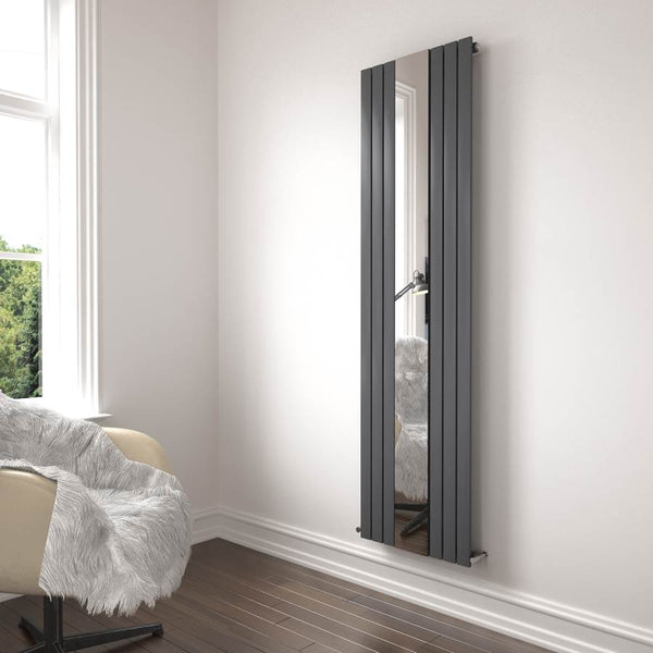 Belgravia Radiator Single Mirrored Anthracite 1800x600x50