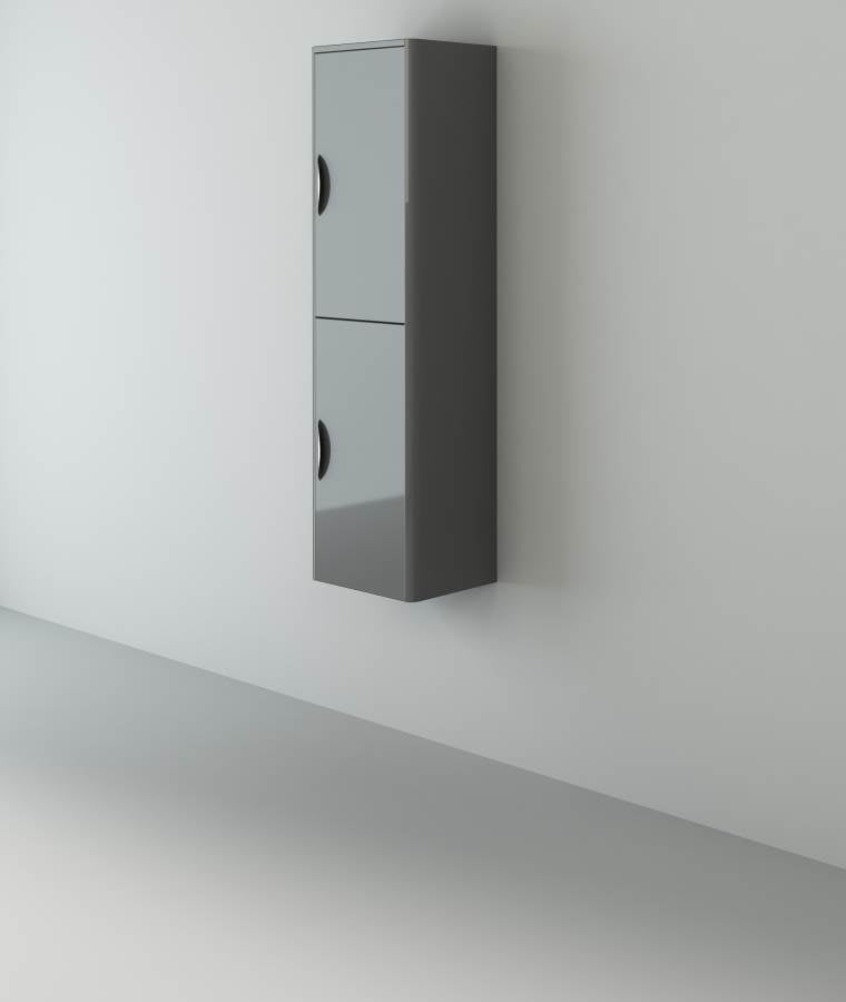 Apollo Grey Gloss Tall Wall-Hung Unit