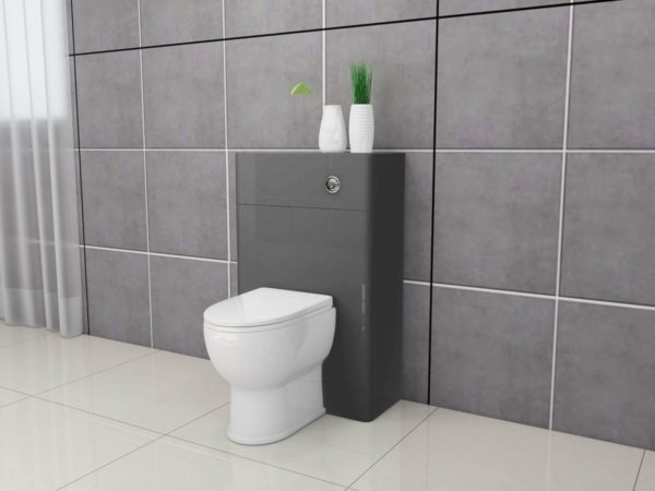 Apollo 500×200 Round Edge WC Unit Anthracite Grey