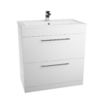 Toilet,White WC Unit 7 2 Drawer Basin Unit 4 Piece Set