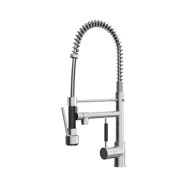 Kitchen Mixer Tap With Flexible Spray and Swivel Spout