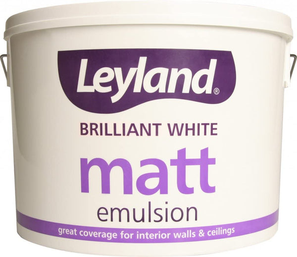 Leyland Matt Emulsion 10L Brilliant White
