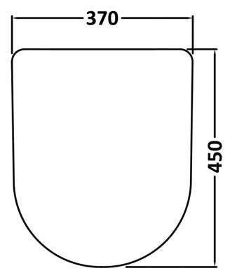 Luxury D Shaped Toilet Seat Soft Close