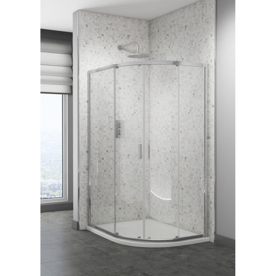 Quadrant Shower Enclosures 1200X800mm With Tray & Waste