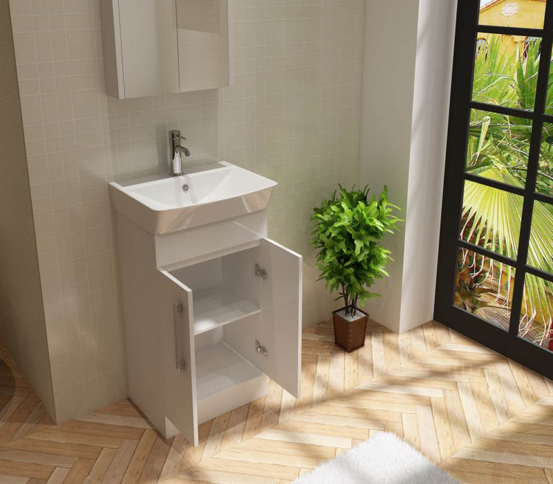 Planet 500 White Unit And Basin
