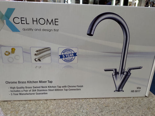 Vita HB0017 Chrome Brass Kitchen Mixer Tap