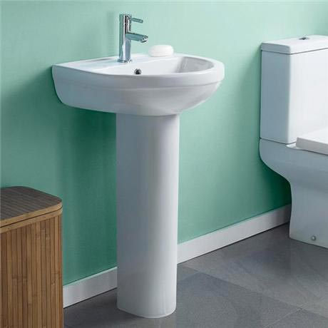 Ivo 550mm 1TH Basin & Pedestal