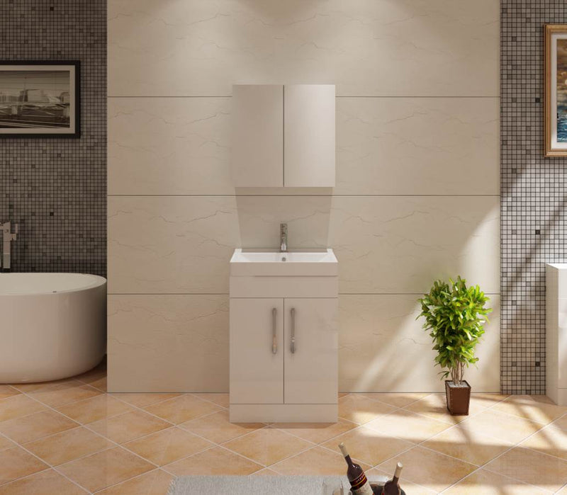 Star 600 White Unit And Basin