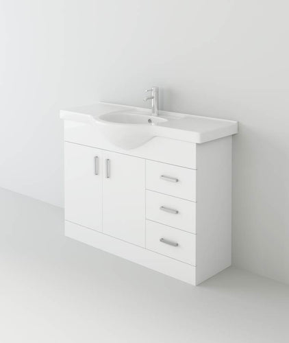 Mars 1050 Unit And Basin – White
