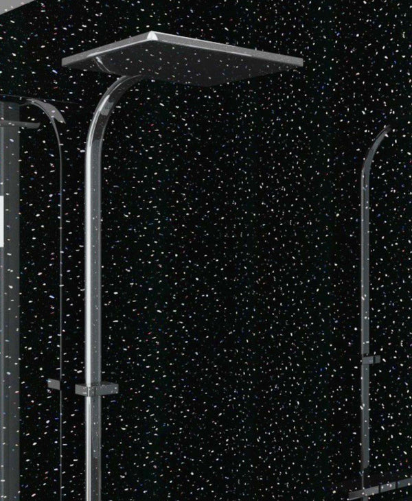 1 Metre Wide Black Galaxy  Panelling - BG100 - Bathroom Cladding