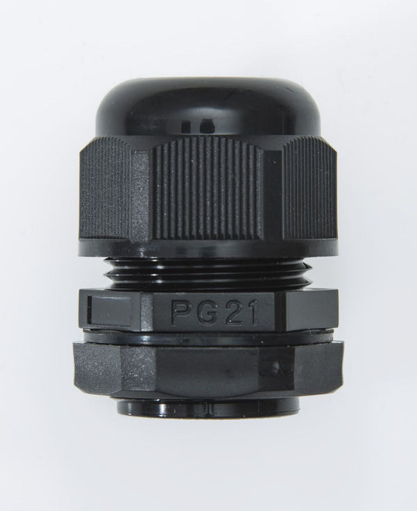 PG21 13-18mm IP68 Cable Gland Black