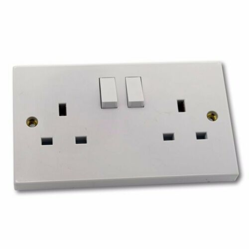 5 Pack 2 Gang 13a Switched Socket Single Pole