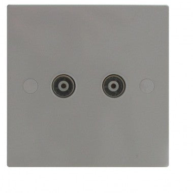 2 Gang TV/Co-Axial Socket Non Isolated