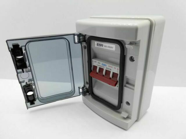 IP65 Enclosure With 125a 240v Changeover Switch