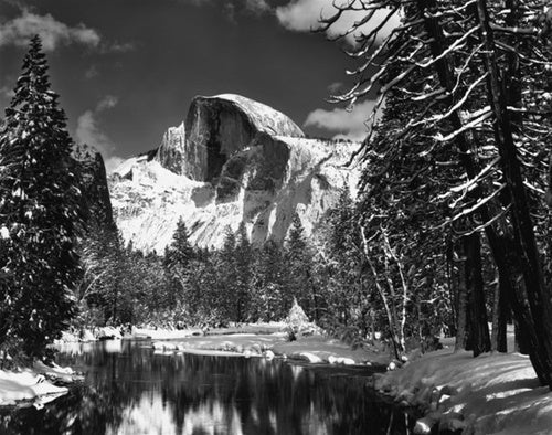 Half Dome, Merced River, Winter