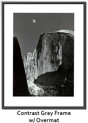 Moon and Half Dome