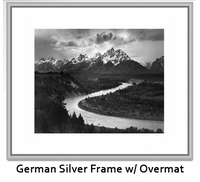 Tetons and Snake River by Ansel Adams - Framed Posters