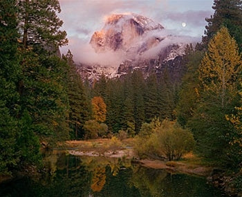 Half Dome, Moon, Autumn