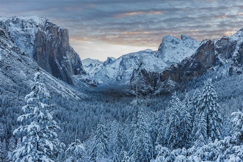 Winter Sunrise over Yosemite Valley, Yosemite National Park, California