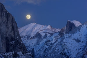 Winter Moonrise over Half Dome and Cloud's Rest, Yosemite National Park, California, 2012