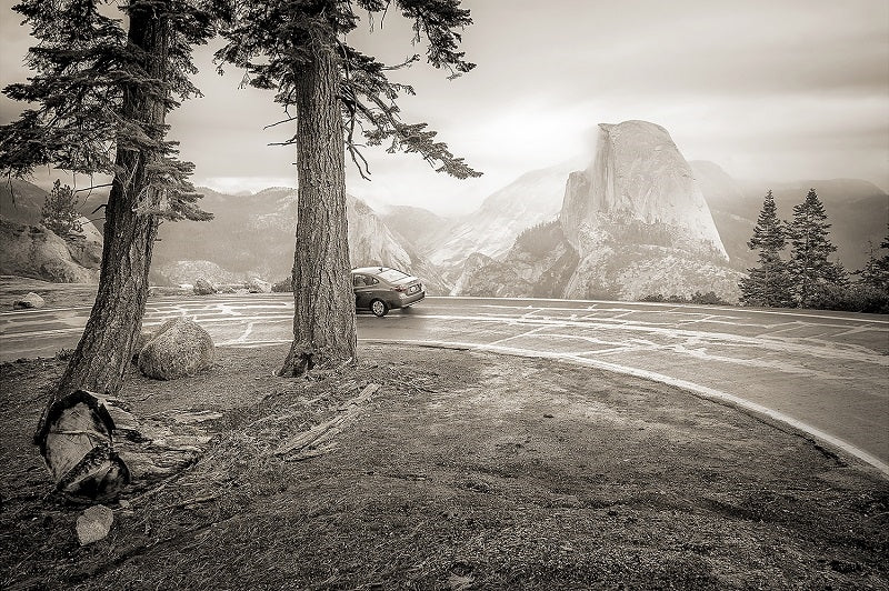 Half Car from the Glacier Point Road