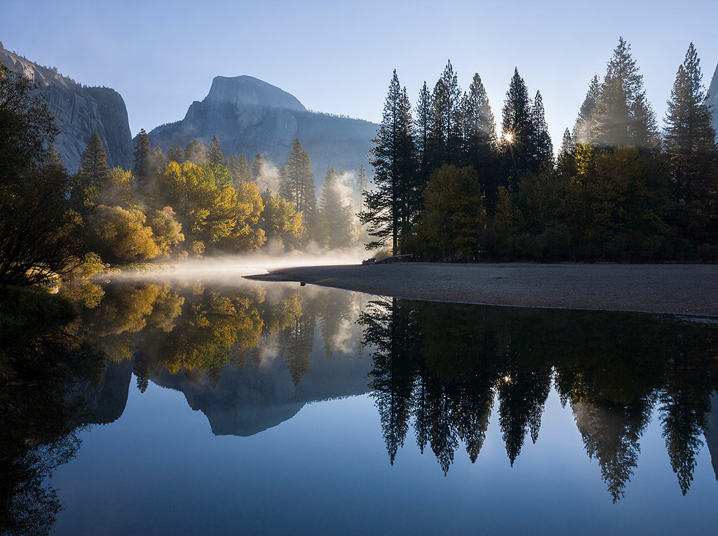Autumn Sunrise, Half Dome and the Merced River, Yosemite