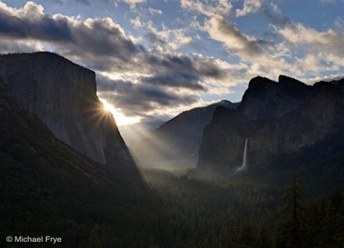 Sunbeams From Tunnel View, Spring, Yosemite National Park, California
