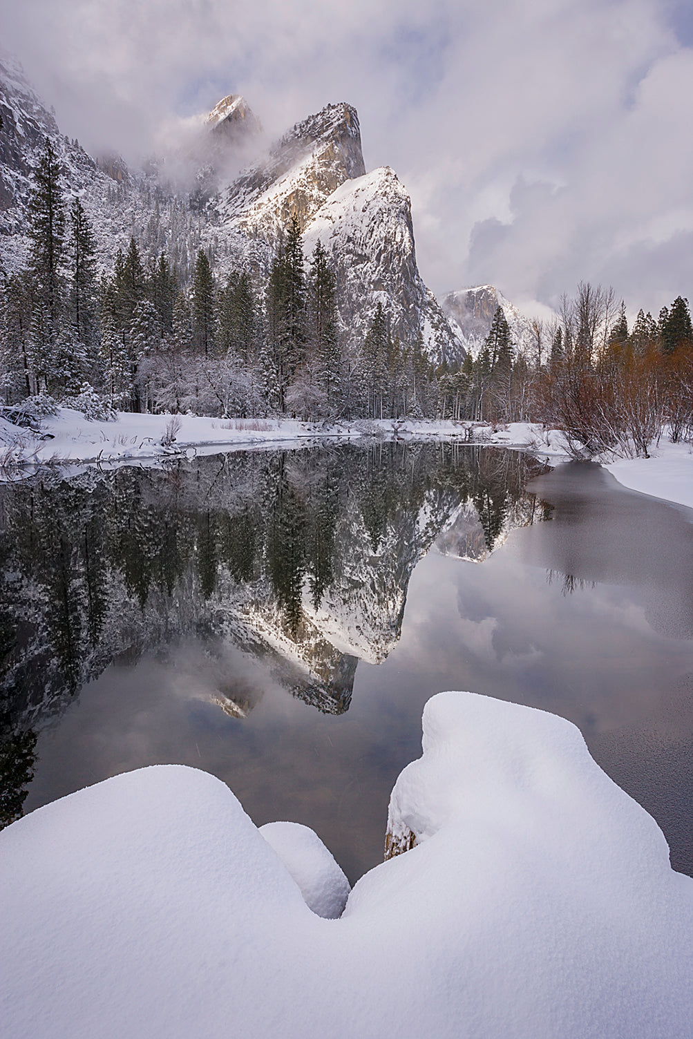 Three Brothers on a Winter Afternoon, Yosemite National Park