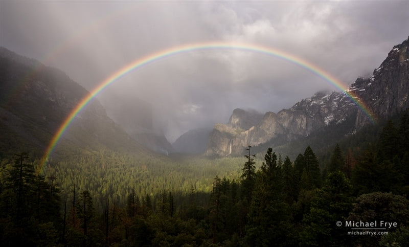 Rainbow over Yosemite Valley from Tunnel View, Yosemite