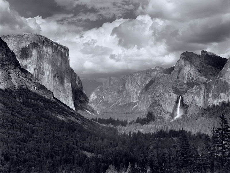 "Yosemite Valley, Thunderstorm - 56"" x 42"" Rolled"