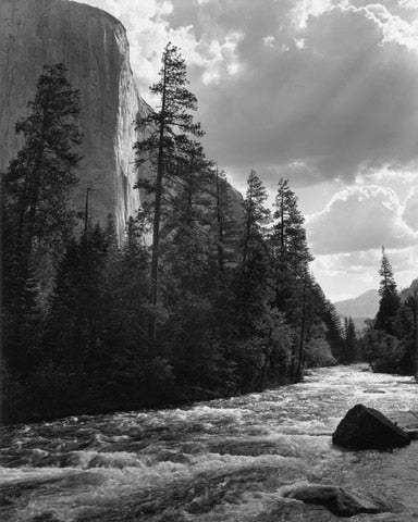 El Capitan, Merced River, Clouds