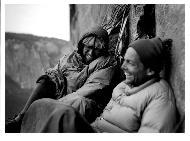 Royal Robbins and Tom Frost Bivouacking on North America Wall