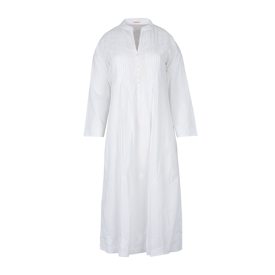 Kurta  LONG PARIS TOP Blanco