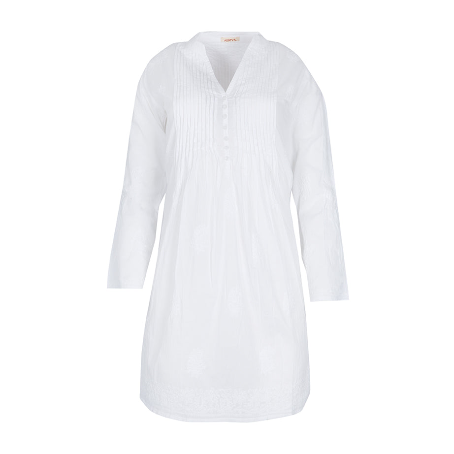 Kurta PARIS TOP Blanco