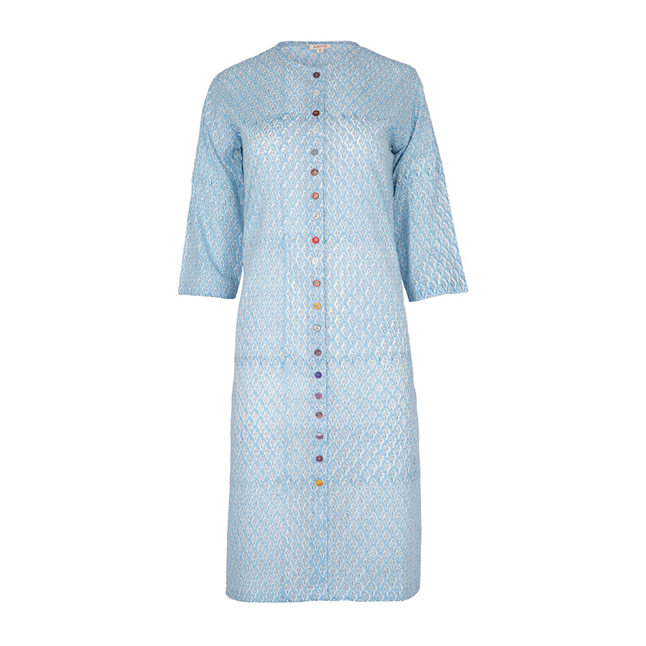 Multibutton kurta SKY