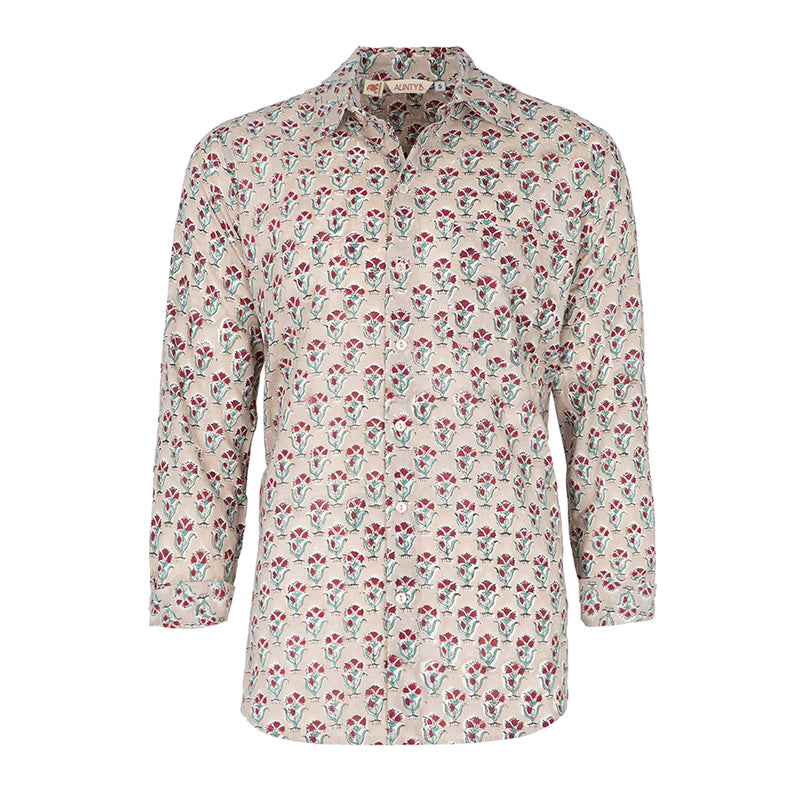 Camisa hombre Taupe