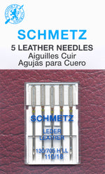 Schmetz Leather Needle 110/18 5PK