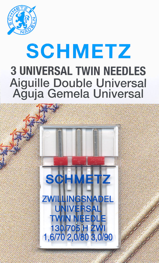 Schmetz Universal Twin Needles 1.6/70 - 2.0/80 - 3.0/90