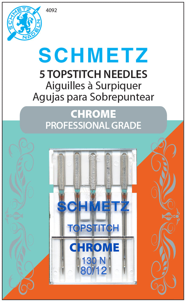 Schmetz Chrome Topstitch Needles 80/12 5PK