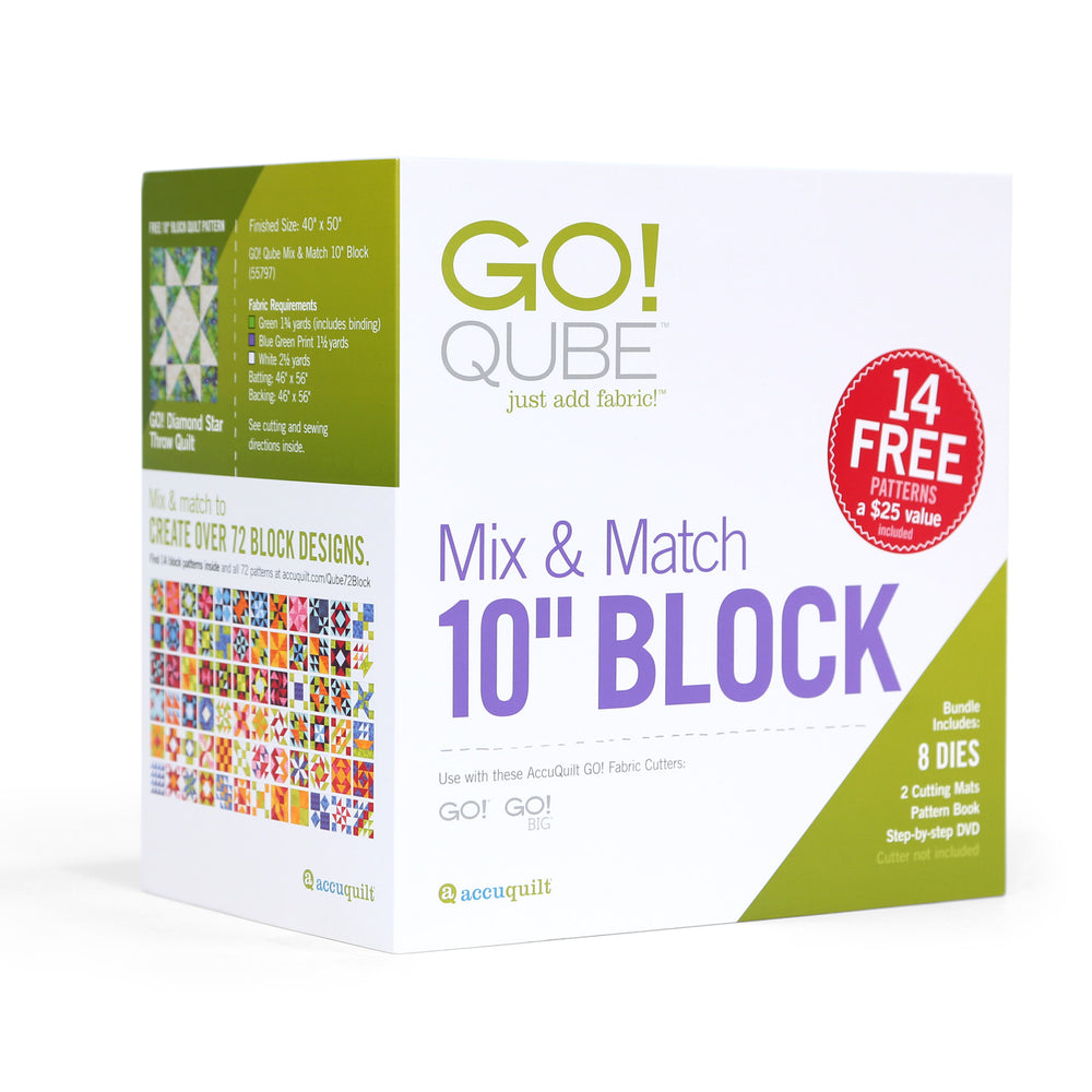 "AccuQuilt GO! Qube Mix And Match 10"" Block"