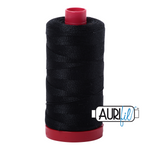 Aurifil 12 Wt Cotton Thread Black 2692