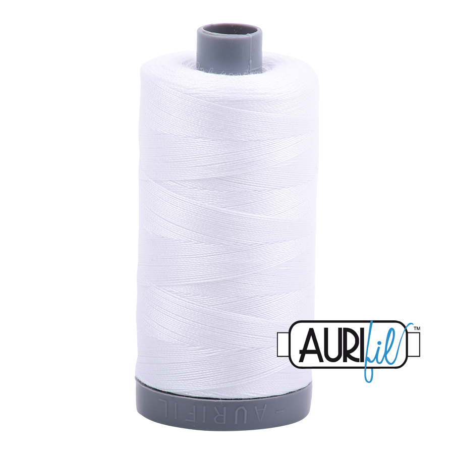 Aurifil 28 Wt Cotton Thread Natural White 2024