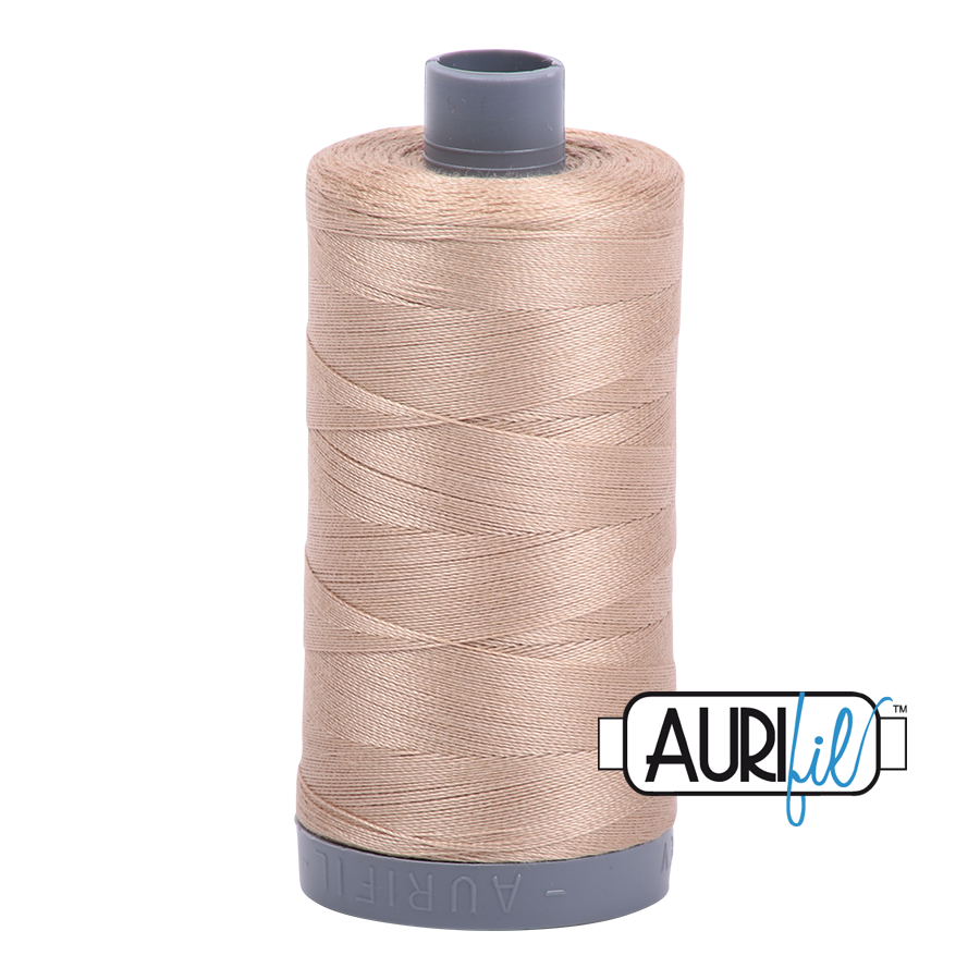Aurifil 28 Wt Cotton Thread Sand 2326