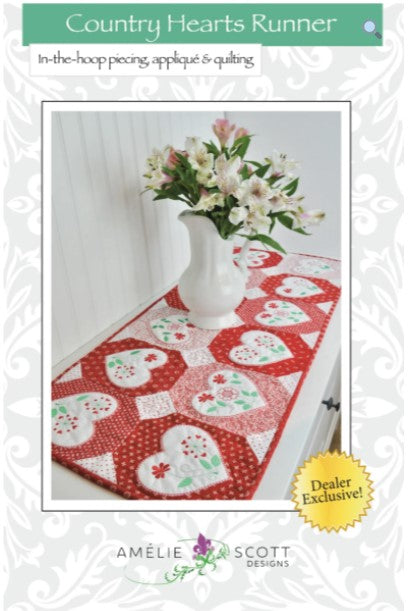 Country Hearts Table Runner