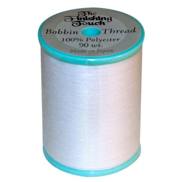 Finishing Touch  Embroidery Bobbin Thread - White - 90 wt