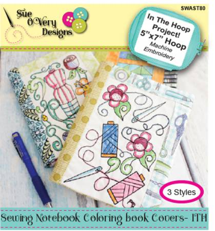 Notebook Coloring Book Cover-In the Hoop- East Aurora